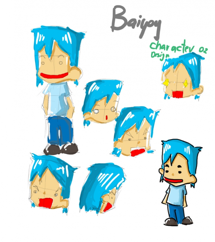 ใบหยอย character design 02