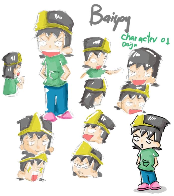 ใบหยอย character design 01